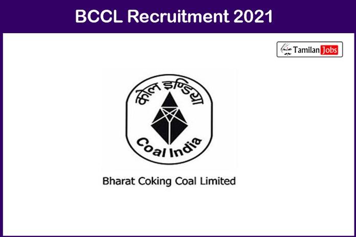 BCCL Recruitment 2021 Out – Apply For 26 Amin T&S Gr 'D' & Dresser T&S Gr 'E' Jobs