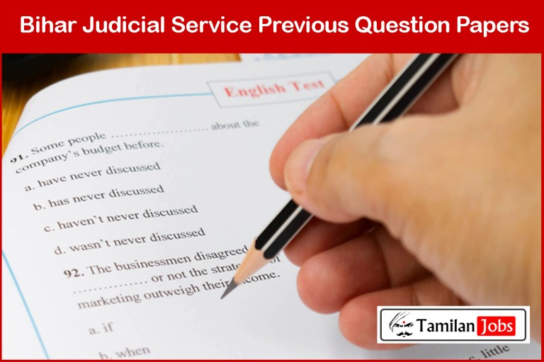 Bihar Judicial Service Previous Question Papers @ bpsc.bih.nic.in