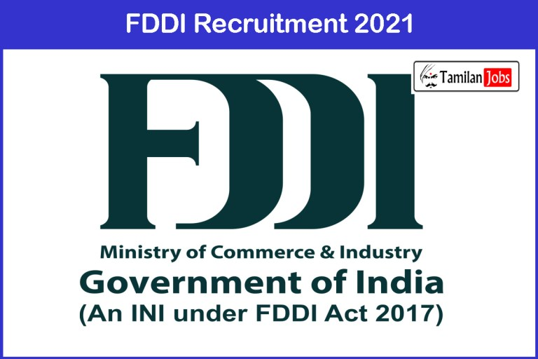 FDDI Recruitment 2021 Out – Apply Online 75 Manager Jobs