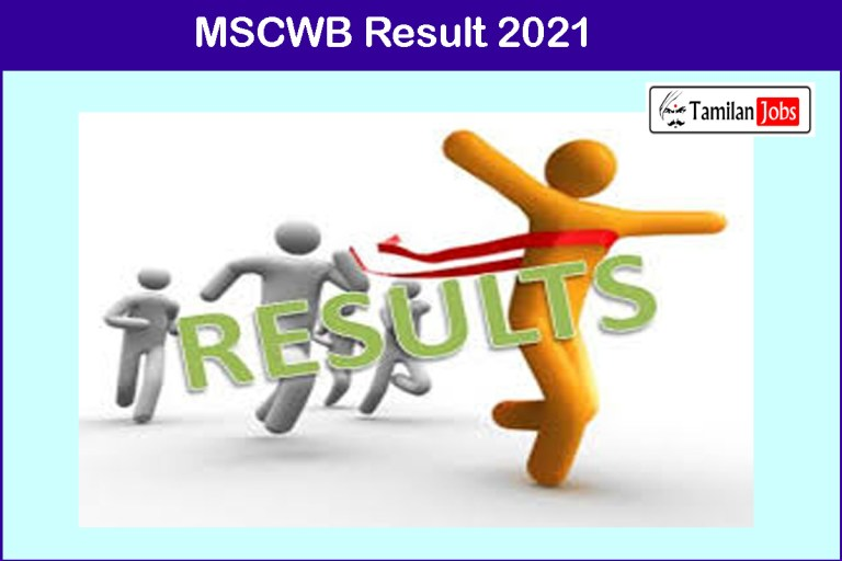 MSCWB Result 2021 | Cut Off, Merit List @ www.mscwb.org