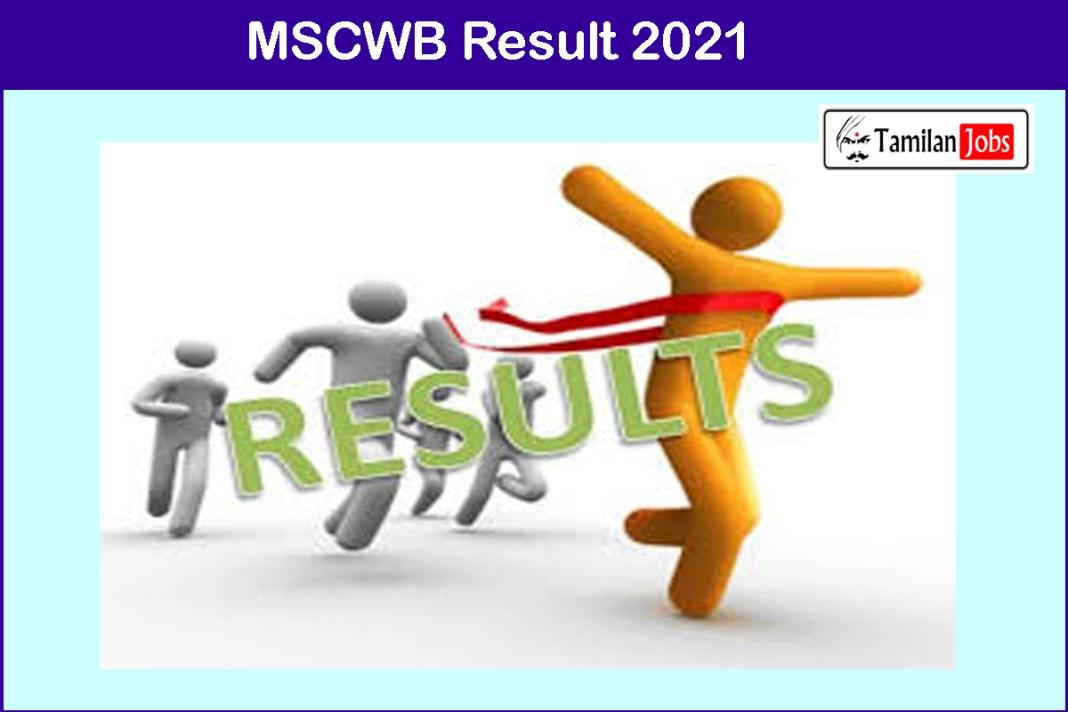 MSCWB Result 2021