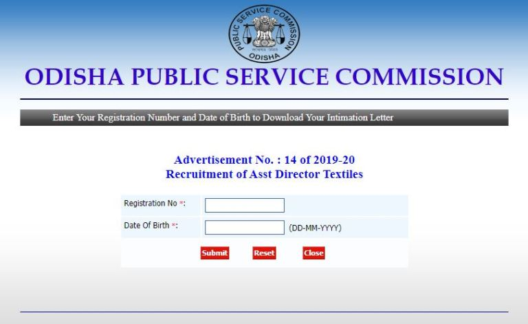 OPSC Assistant Director DV Admit Card 2021 (Out) @ opsc.gov.in