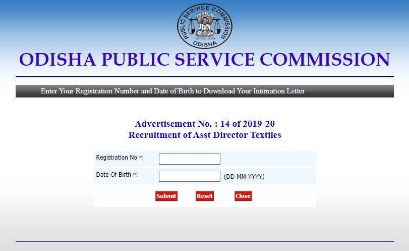 OPSC Assistant Director DV Admit Card 2021