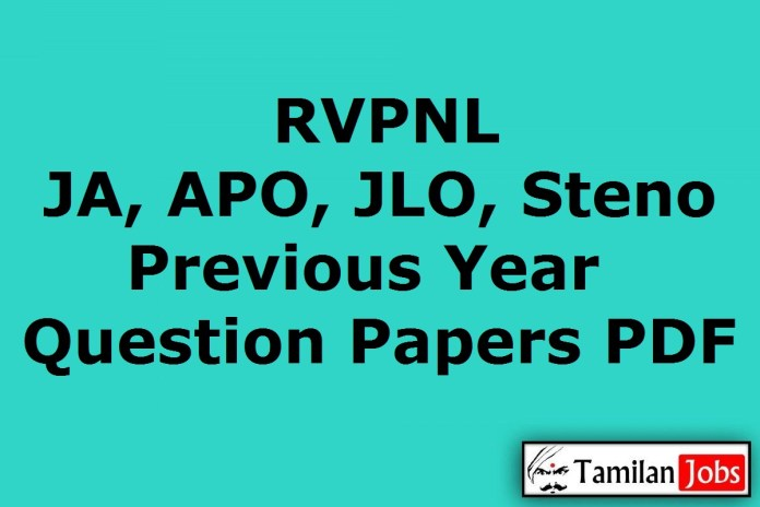 RVPNL Previous Question Papers PDF, Junior Assistant, APO, JLO, Steno Old Papers
