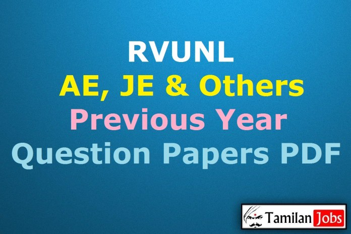 RVUNL Previous Year Question Papers PDF, JE, AE Old Papers