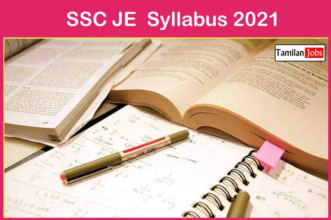 SSC JE Syllabus 2021
