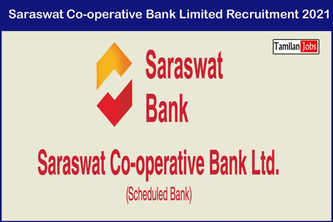 Saraswat Co-operative Bank Limited Recruitment 2021