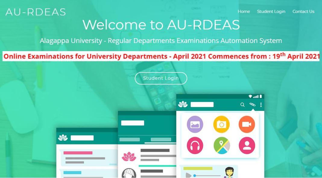 Alagappa University Hall Ticket 2021