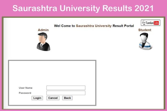 Saurashtra University Result 2021 (Issued) | Check UG, PG Results @ result.saurashtrauniversity.edu