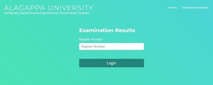 Alagappa University Arrear Exam Result 2021 (Out), April 2020 Exam Results