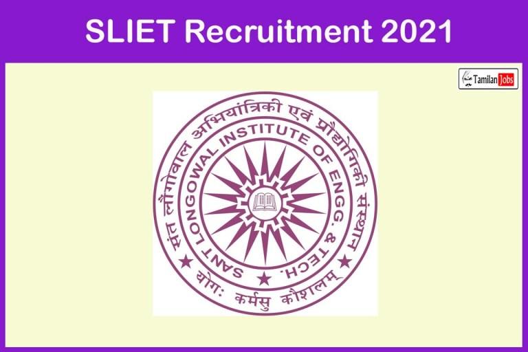 SLIET Recruitment 2021 Out – Apply Online 40 Assistant Professor Jobs
