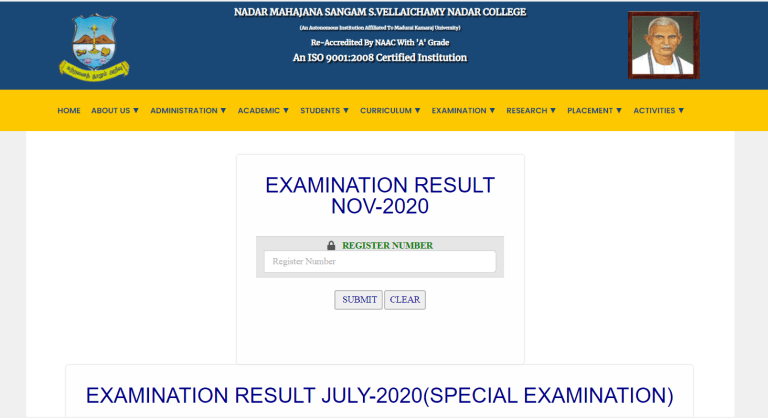 NMSSVN Result 2021 {Available} @ nmssvnc.edu.in   Download Here!