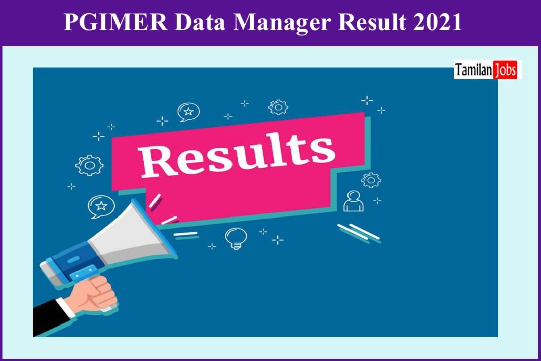 PGIMER Data Manager Result 2021