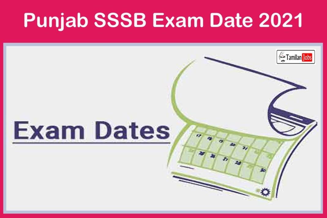 Punjab SSSB Exam Date 2021