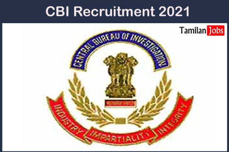 CBI Recruitment 2021 Out – Apply For Consultant Jobs