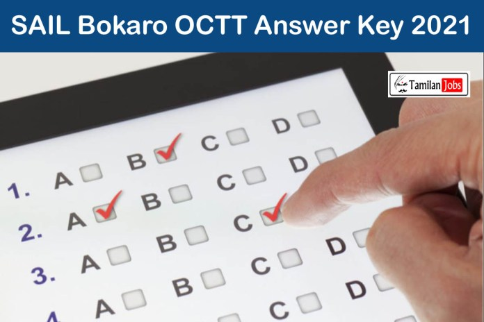 SAIL Bokaro OCTT Answer Key 2021 @ www.sail.co.in | Download Here