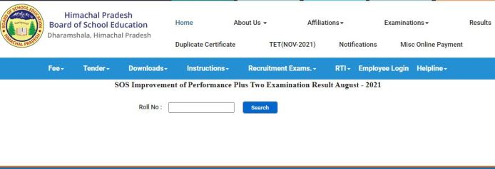 HPBOSE SOS 12th Result 2021 August Out @hpbose.org
