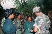Col. Vithusha and Col. Thurka with Col. Balraj