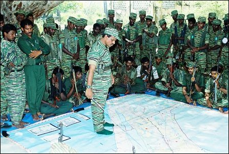Balraj explaining the plan for counter offensive in Jaffna