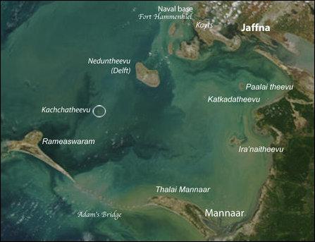 Kachchatheevu Map