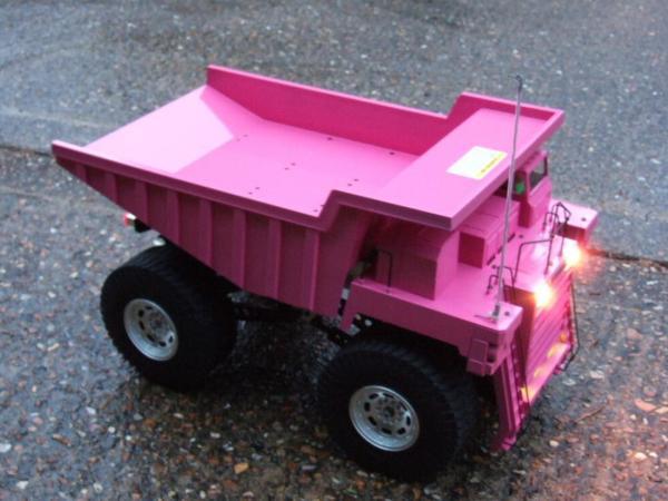 58268 Mammoth Dump Truck Mymonsterbeetleisbroken Showroom Pink - Tamiya Rc