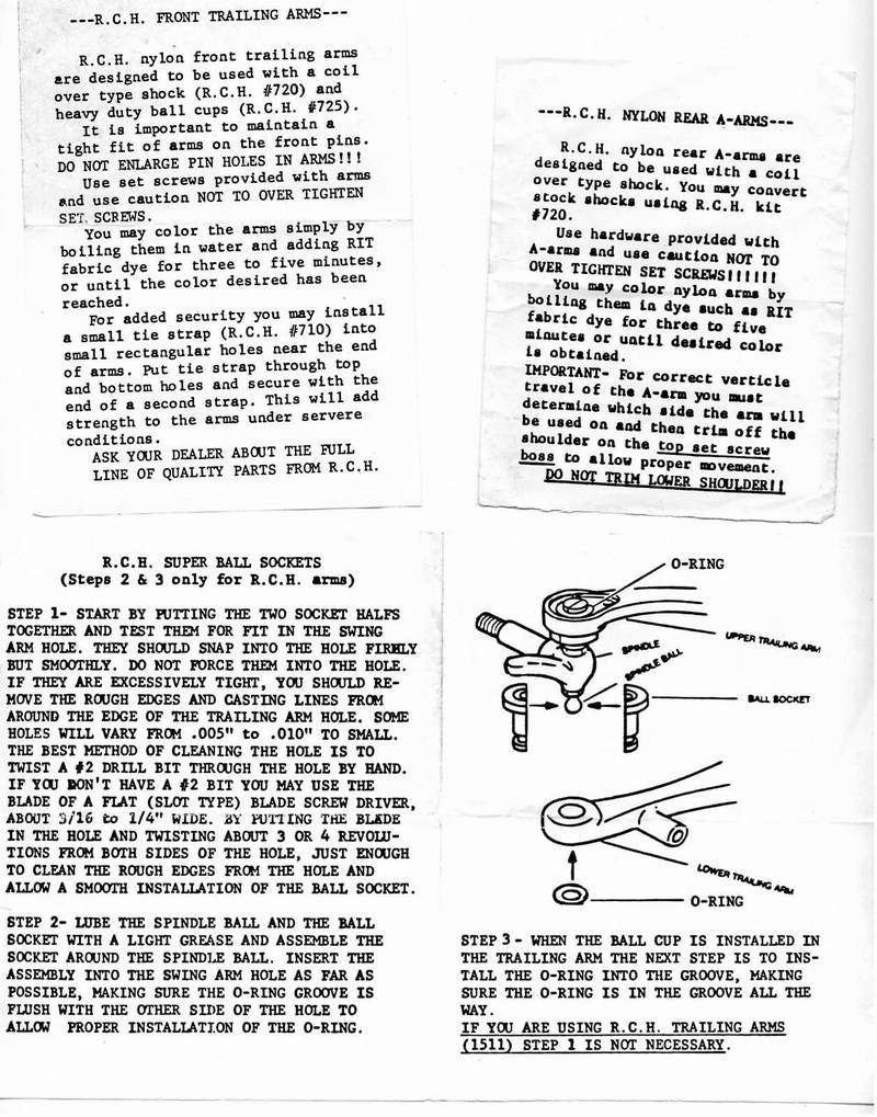Vintage article: RCH Instructions for Nylon Aftermarket