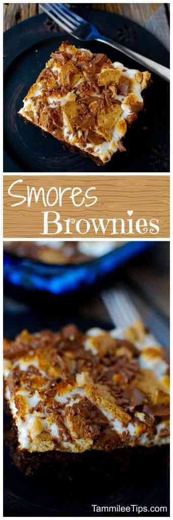 Super easy to make Smores Brownies Recipe! These bars us a box mix but tastes homemade! The perfect combination of marshmallows, chocolate, graham crackers in a dessert bar!