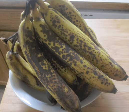 Freeze bananas to use in recipes!