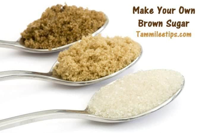 Have you run out of brown sugar? Make your own!