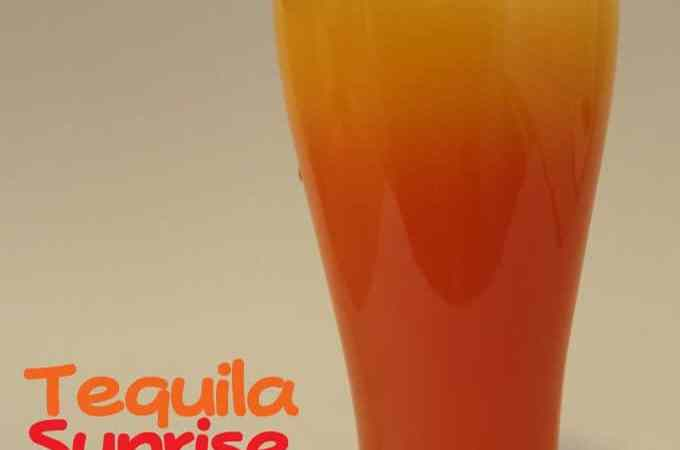 Tequila Sunrise Cocktail Recipe!