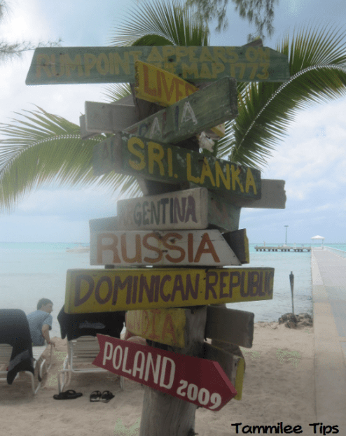 Rum Point Grand Cayman Sign