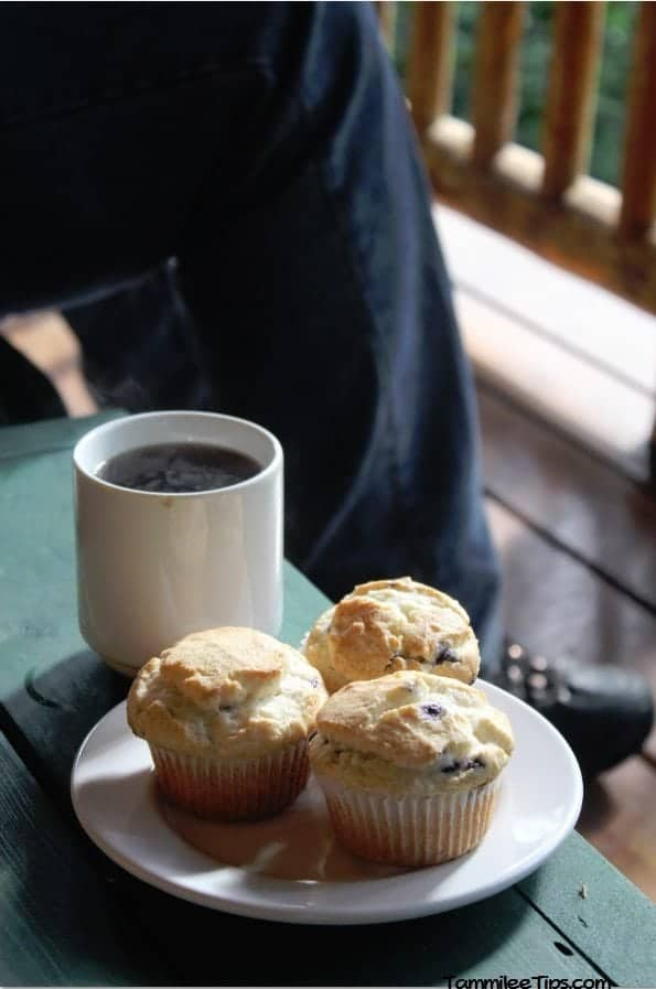 Lakedale Resorts Breakfast Blueberry Muffins