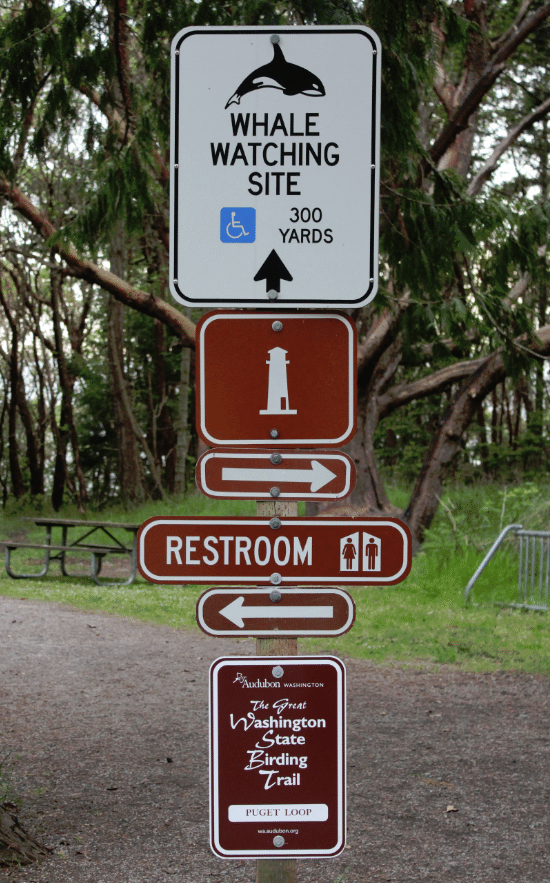 Lime Kiln State Park Sign