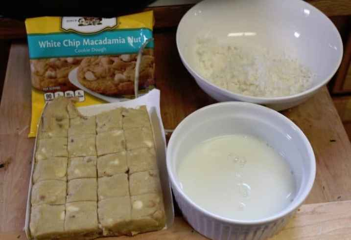 White Chocolate Coconut Macadamia Nut Cookies ingredients