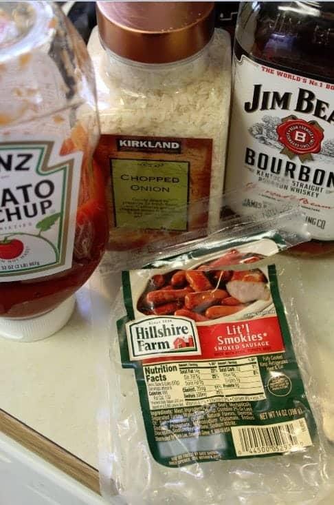 Crock Pot Bourbon Litl Smokies ingredients