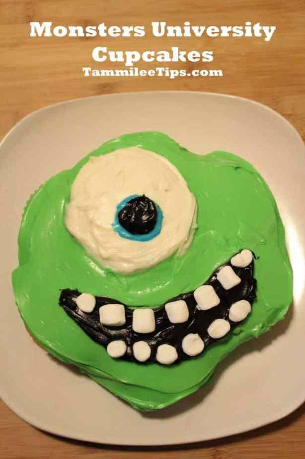 Monsters University Cupcakes Mike Wazowski