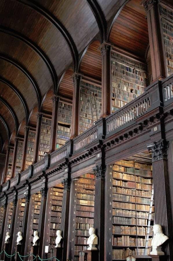 Book of Kells and Trinity College Dublin Ireland