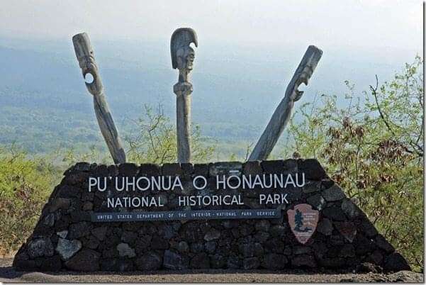 Pu`uhonua O Hōnaunau National Historical Park also known as the City of Refuge