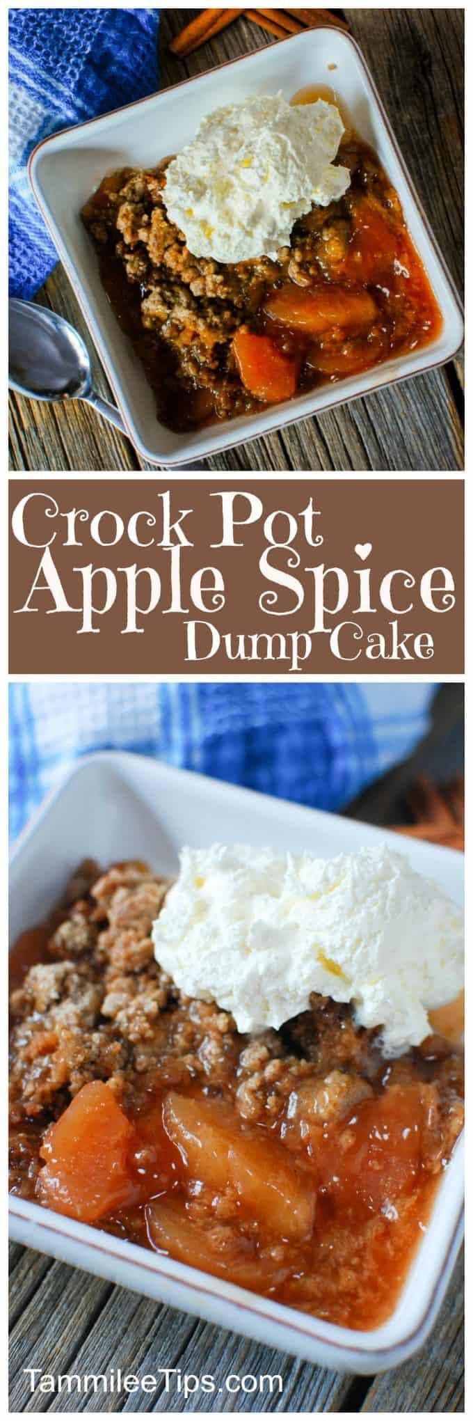 Crock Pot Apple Dessert With Spice Cake Mix