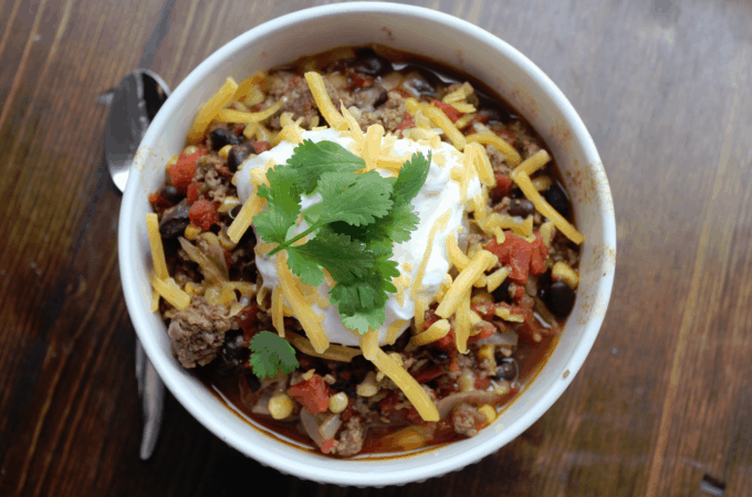 Crock Pot Spicy Taco Soup