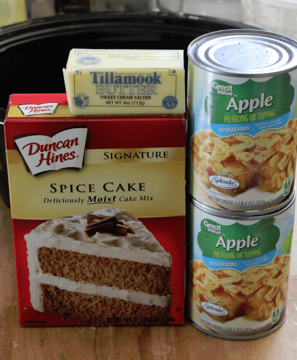 Crock pot Apple Spice Cake ingredients
