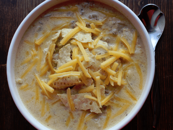 Crock Pot Cheeseburger Soup