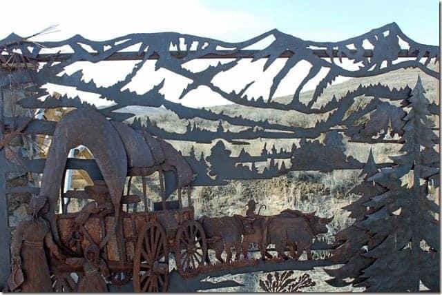 Oregon Trail entrance gate