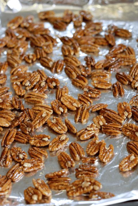 honey pecans drying