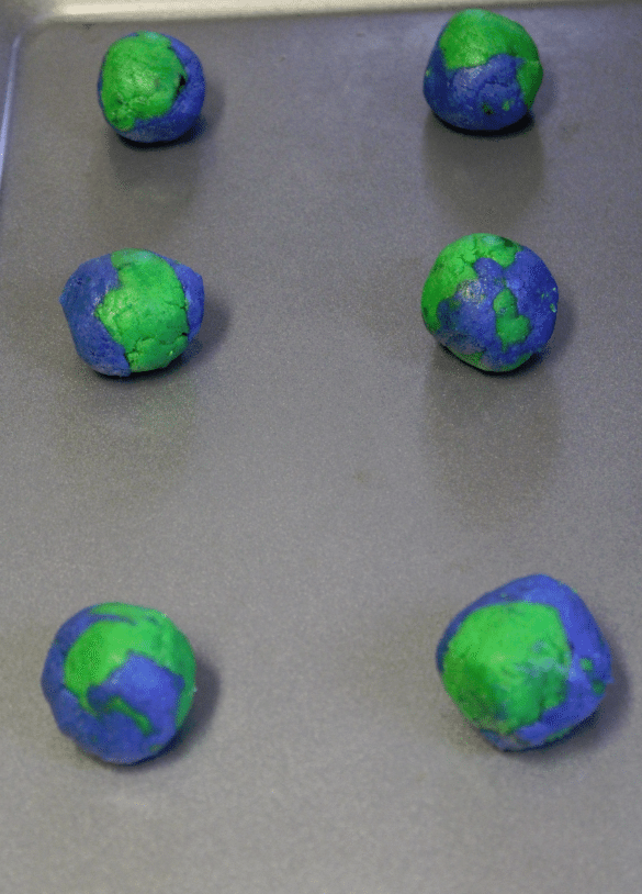 Earth Day Cookies dough balls