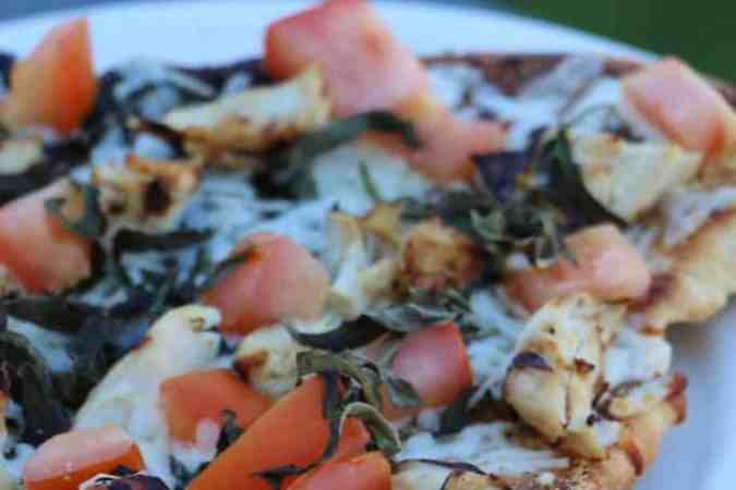 Grilled Bruschetta Chicken Pizza Recipe