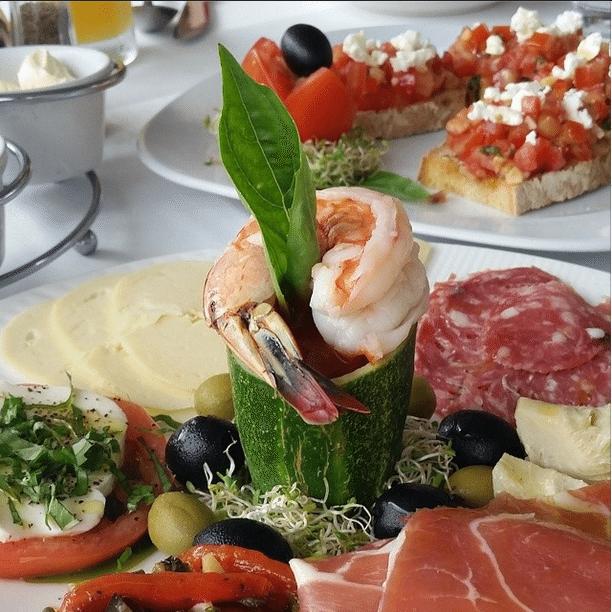 porto bello shrimp appetizer