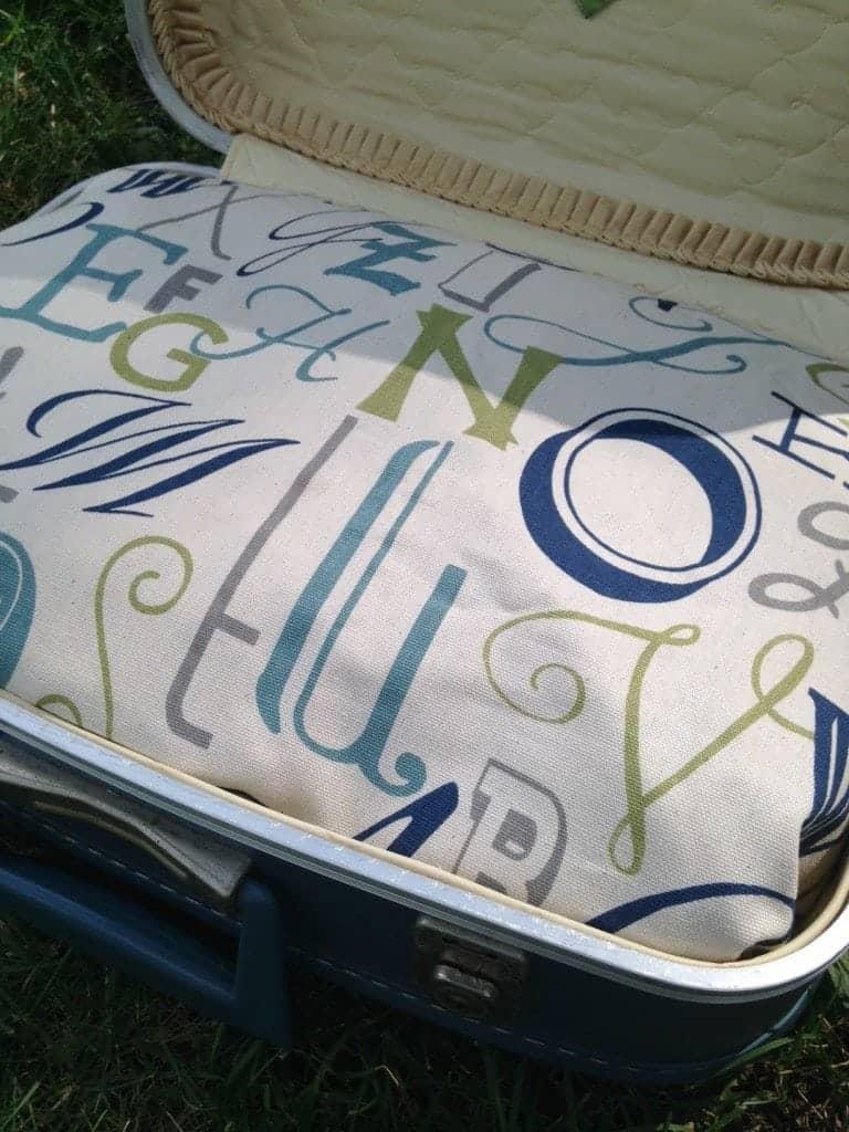Super Cute DIY Suitcase Pet Bed Step 2
