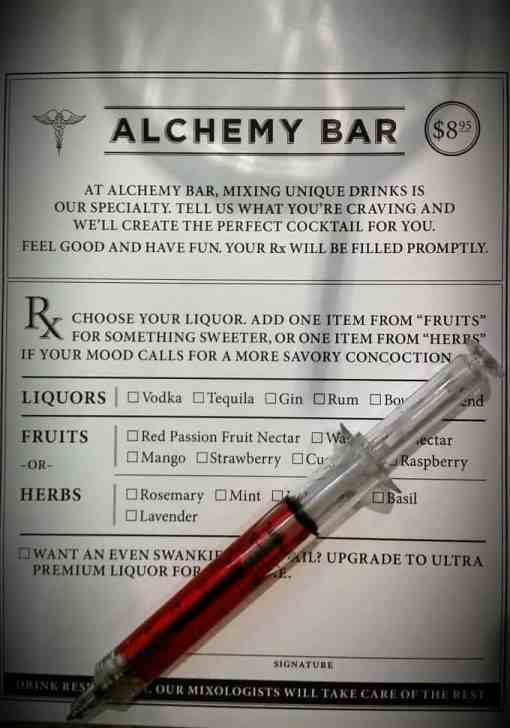 Alchemy Bar prescription