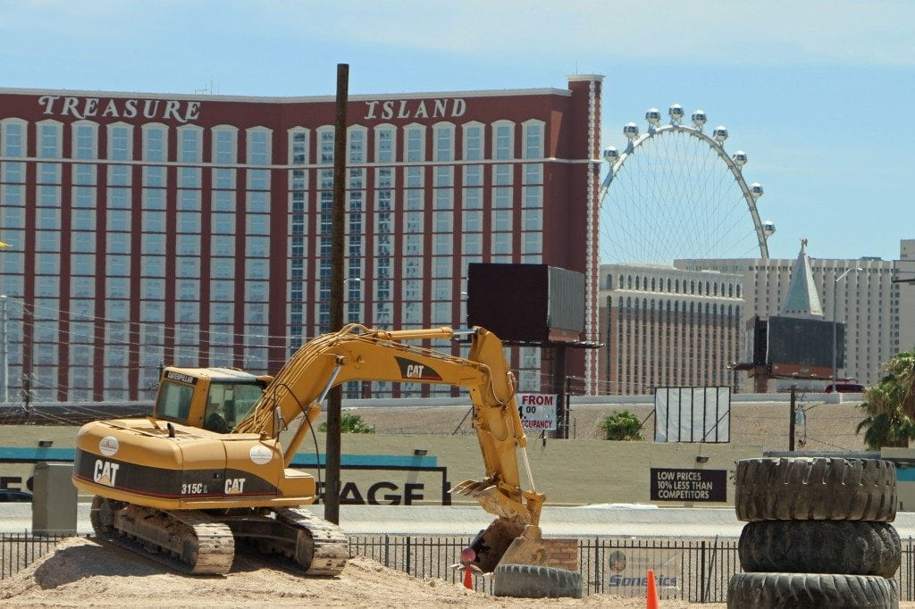 excavator basketball at Dig This Las Vegas
